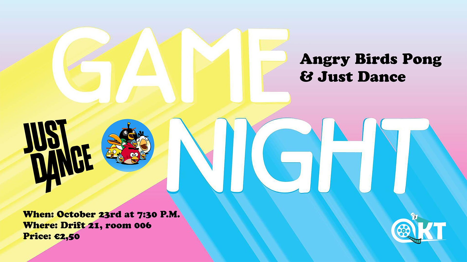 AKT on Screen Game Night: Angry Birds Pong & Just Dance